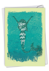 Mermaid Quotes - Mermazing, Printed Congratulations Greeting Card - C6824CCGG