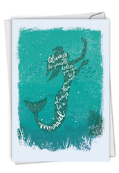 C6824DBD - Mermaid Quotes - Always Be Yourself: Printed Card