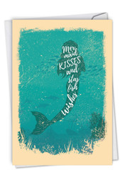 C6824FBD - Mermaid Quotes - Kisses: Paper Card