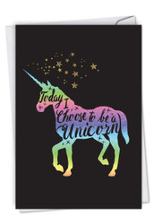C6826FBD - Horns and Unicorns - Choose To Be: Printed Card