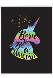 J6826CBD - Horns and Unicorns - Born To Be: Giant Note Card