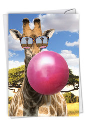 C6837BBD - Balloon Animals - Giraffe: Paper Card