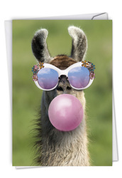 C6837GBD - Balloon Animals - Llama: Note Card