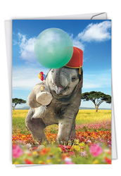 C6837HBD - Balloon Animals - Elephant: Greeting Card