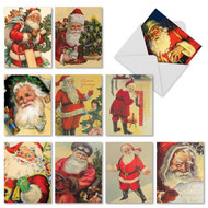 Santiques Blank or Season's Greetings Holiday Cards