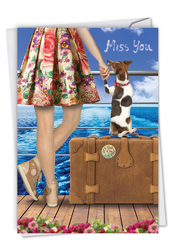 C6881MY - Dog and Friend: Greeting Card
