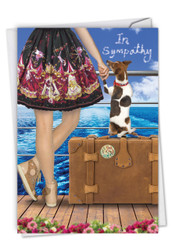 Dog And Friend, Printed Sympathy Note Card - C6881SMG