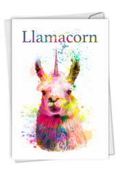 C6883BD - Llamacorn: Greeting Card