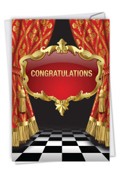 Take A Bow, Printed Congratulations Greeting Card - C6933CGG