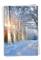 Winter Sunrise - Isaiah 60:1, Printed Congratulations Note Card - C6655ACGG
