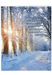 J6655ACG - Winter Sunrise - Isaiah 60:1: Over-sized Paper Card