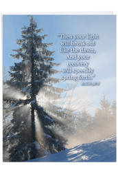 Winter Sunrise - Isaiah 58:8, Extra Large Get Well Note Card - J6655CGWG