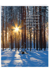 J6655ESM - Winter Sunrise - 1 John 2:8: Big Greeting Card