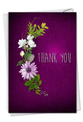 C6842GTY - Many Thanks - Purple: Note Card