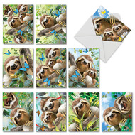 AM6864OC - Smiling Sloths: Mini Mixed Set of 10 Cards