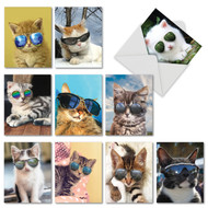 AM6891OC - Kool Kitties: Mini Mixed Set of 10 Cards