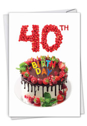 C7060EMB - Big Day 40: Paper Card