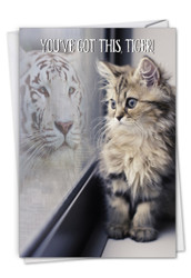 Aspirations - Cat, Printed Friendship Greeting Card - C7076JFRG