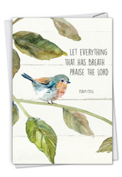 Scripture Birds - Psalm 150:6, Printed Congratulations Note Card - C7108ICGG
