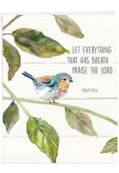 J7108ICG - Scripture Birds - Psalm 150:6: Large Printed Card