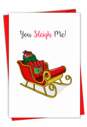 C7122AXS - Punny Holidays - Sleigh Me: Printed Card