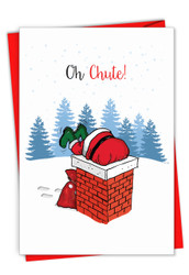 C7122BXS - Punny Holidays - Chute: Greeting Card