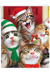 J6652HXS-US - Merry Christmas to Zoo - Cats: Large Note Card