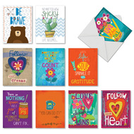 AM7165FR - Encouraging Words: Mini Assorted Set of Cards