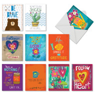 Encouraging Words, Assorted Set Of Mini Friendship Greeting Cards - AM7165FRG