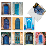 Blue Doors, Assorted Set Of Mini Blank Note Cards - AM7170OCB