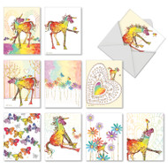 AM7245OC - Happy Unicorns: Mini Assorted Set of Cards