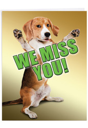 J2232MY-US - Miss YouThis Much Dog: Extra Large Greeting Card