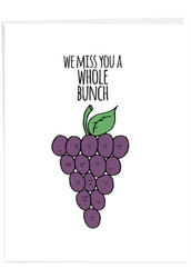 Fun Puns, Extra Large Miss You Note Card - J2975BMYG-US