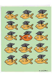 Stand Out In Crowd, Extra Large Graduation Greeting Card - J3914GDG-US