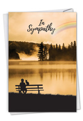 C7219PS - Sympathy Rainbow Cat: Printed Card