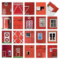 AM7033OC - Red Barns: Mini Assorted Set of Cards