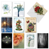 Deepest Sympathies, Assorted Set Of Printed Sympathy Note Cards - AC3109SMG