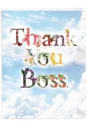 Thanks A Bunch, Extra Large Boss Thank You Greeting Card - J2359ABYG-US