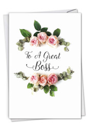C4175ABO - Elegant Flowers: Note Card