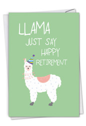 C6445ART - Llama Just Say: Greeting Card
