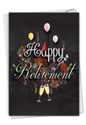 Chalk And Roses, Printed Retirement Greeting Card - C6479CRTG