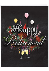 J6479CRT - Chalk and Roses - Retirement: Giant Note Card