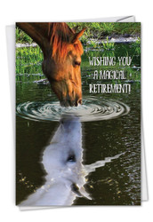 Aspirations - Horse, Printed Retirement Greeting Card - C7076HRTG
