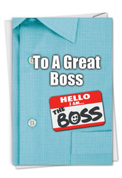 C9108BO - Thank You to a Great Boss: Greeting Card