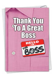 C9108BY - Thank You to a Great Boss: Printed Card