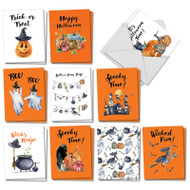 AM2917HW - Gourds and Ghouls: Mini Assorted Set of Cards