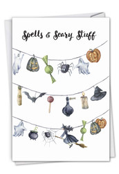 C2917DHW - Gourds and Ghouls - Strung up: Note Card