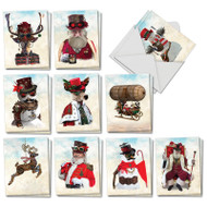 AM2919XT - Steampunk Holidays: Mini Assorted Set of Cards