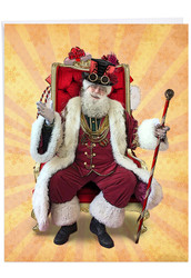 J2919IXS - Steampunk Holidays - Cane: Big Paper Card