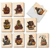 AM2920HW - Steampunk Halloween: Mini Mixed Set of Cards